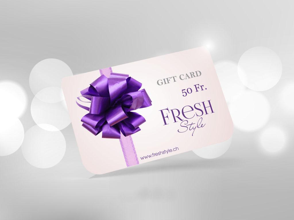 Geschenkgutschein von Fresh Style